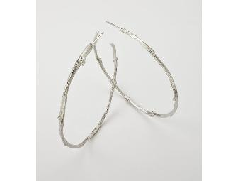 Twig Large Hoop Earrings - Sterling and Central Park Twig