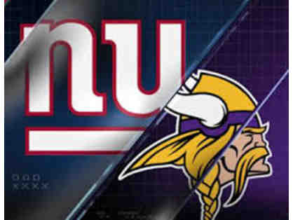2 Tickets to NY Giants Game VS Minnesota Vikings  - Sunday 10/6/19 at 1 PM