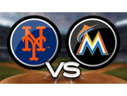 2 Tickets to NY Mets vs. Marlins Game on August 1st  (Includes access to Caesars Club)