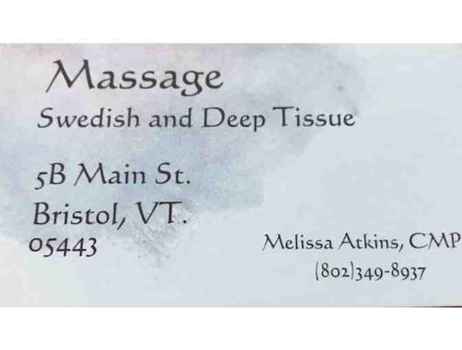 1 hour Swedish or Deep Tissue massage with Melissa Atkins in Bristol, VT - Photo 1