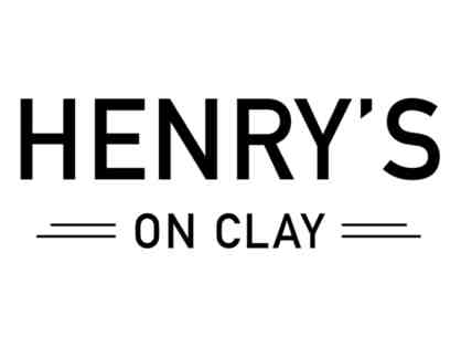 $100 Henry's On Clay Gift Certificate