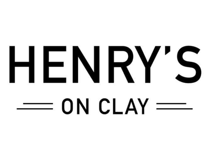 $100 Henry's On Clay Gift Certificate - Photo 1
