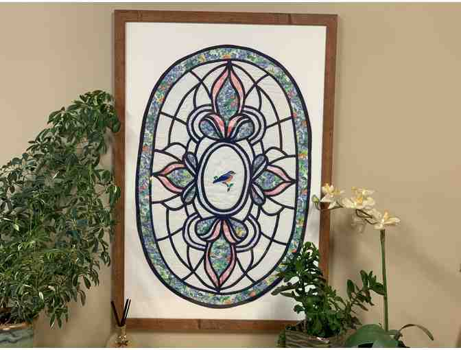 25x37 Framed Quilted Stain Glass Wall Hanging - Photo 1