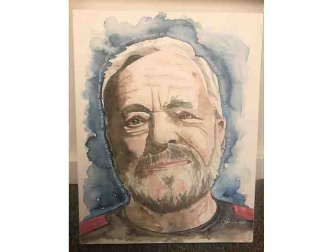 A Watercolor Portrait of Stephen Sondheim by Pat D'Amico - Photo 1