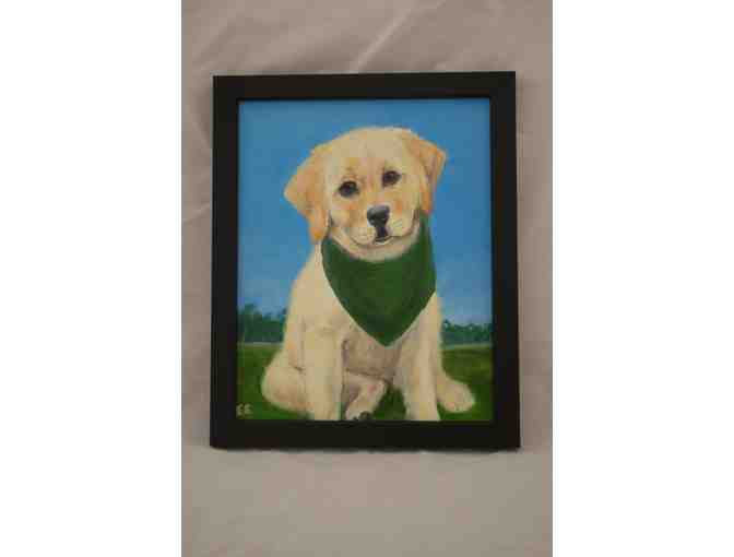 8 x 10 inch 'Looking Cute' framed oil on canvas