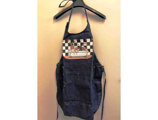 Denim 'Tubbed Pups' Dog Groomer's Apron