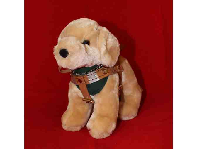 Small Yellow Lab Plush in Harness
