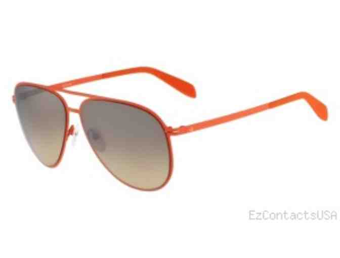 Calvin Klein Orange Aviator Sunglasses with Beach Towel and Tumbler