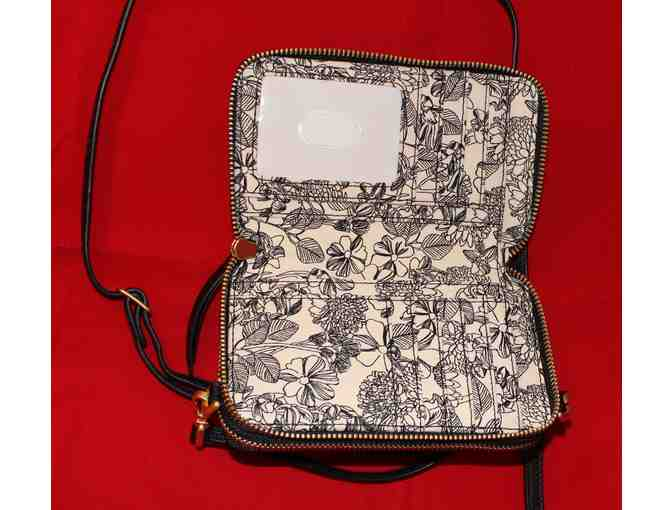 Vera Bradley Mallory RFID All in One Crossbody - Black Leather