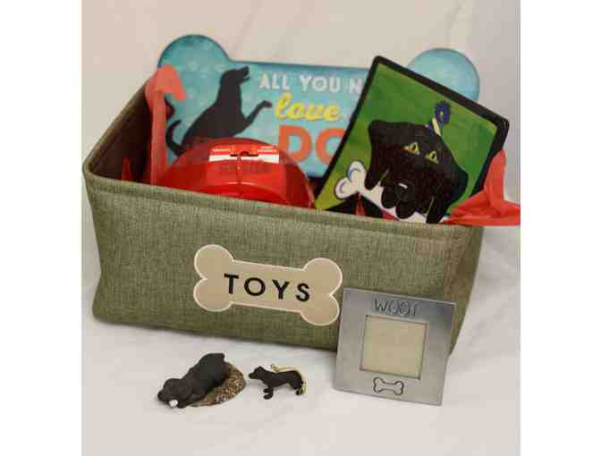Canvas Basket Filled with Dog Toys, $25 PetValue Gift Card and More!