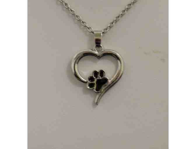 Always In My Heart Necklace with Paw Print
