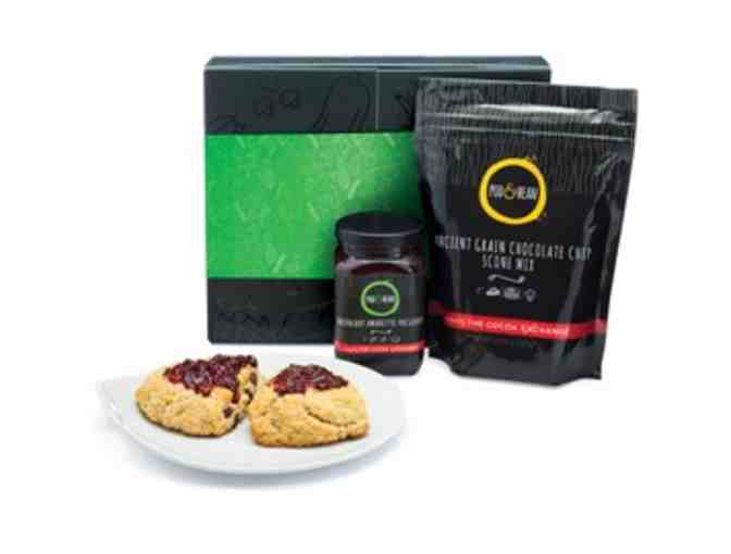 Pod & Bean Ancient Grain Chocolate Chip Scone and Preserve Set