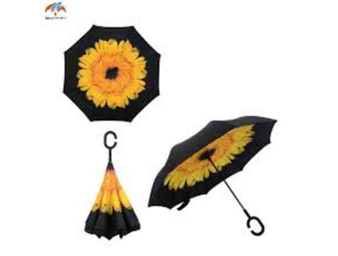 Sunflower Reversible Umbrella and Silk Scarf