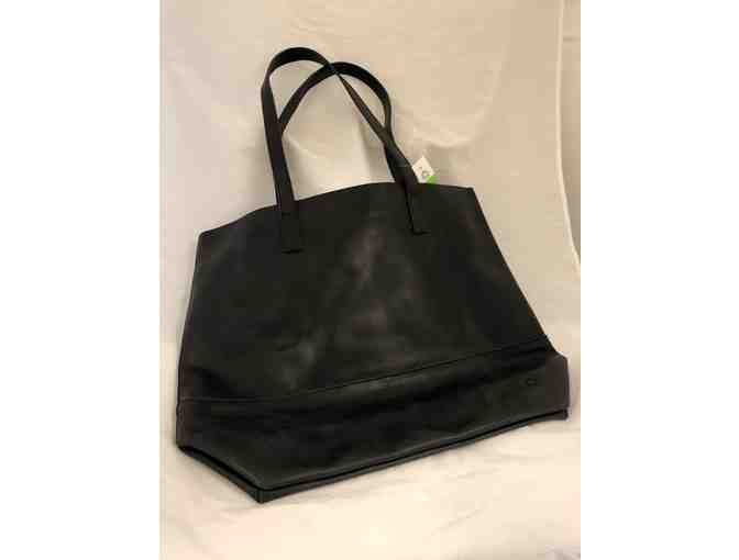 FashionABLE Handcrafted Leather Tote in Black