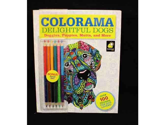 Colorama Delightful Dogs Coloring Book and Pencil Set
