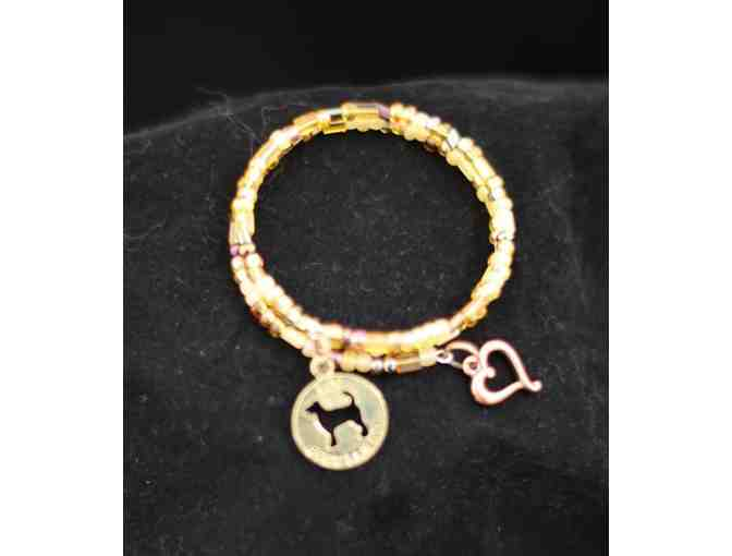 Beads Fur Rescue beaded bracelet with charms