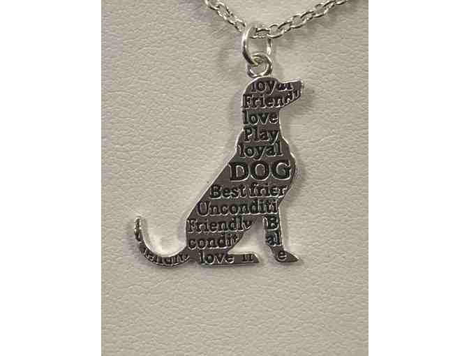 Always In My Heart Necklace with Labrador Charm