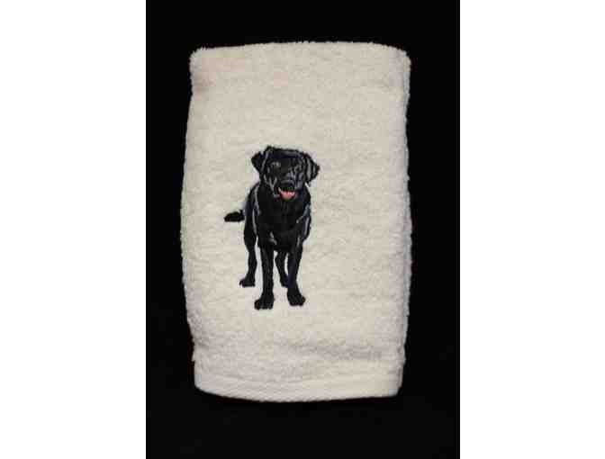Black Labrador Retriever Hand Towels