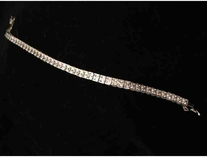 Sterling Silver and Cubic Zirconia Tennis Bracelet