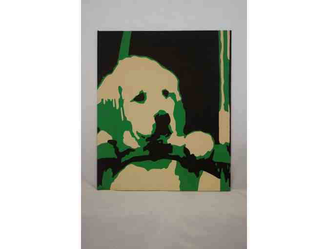 'Lab Pup' acrylic on Pop Art Panel