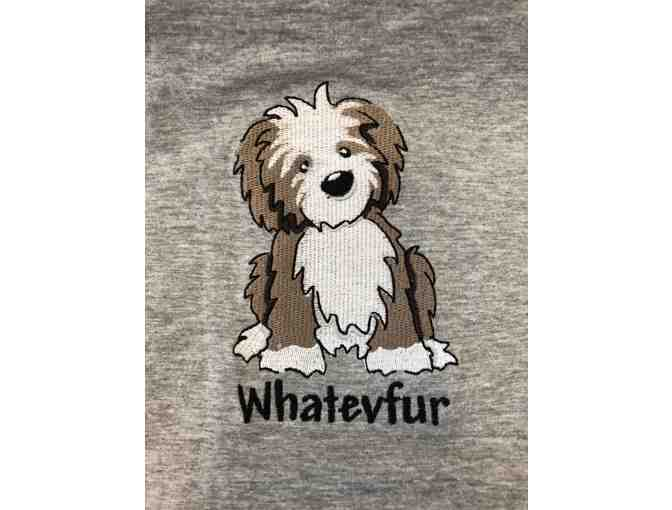 Rene Rofe 'Whatevfur' XL Sleepshirt with Embroidered Dog
