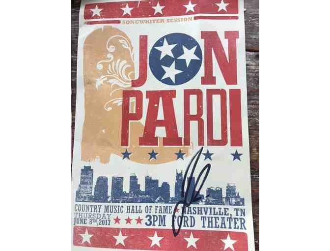 Jon Pardi Hand Written Lyrics to 'Heartache on the Dance Floor', Hatch Print & Photo