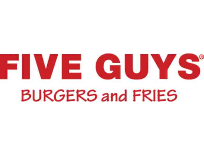 Five Guys Burgers and Fries $25 Gift Card