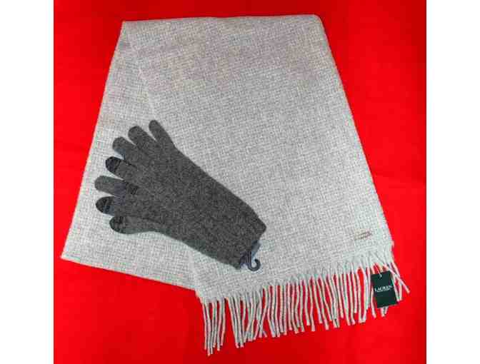 Ralph Lauren Cashmere Scarf and Gloves