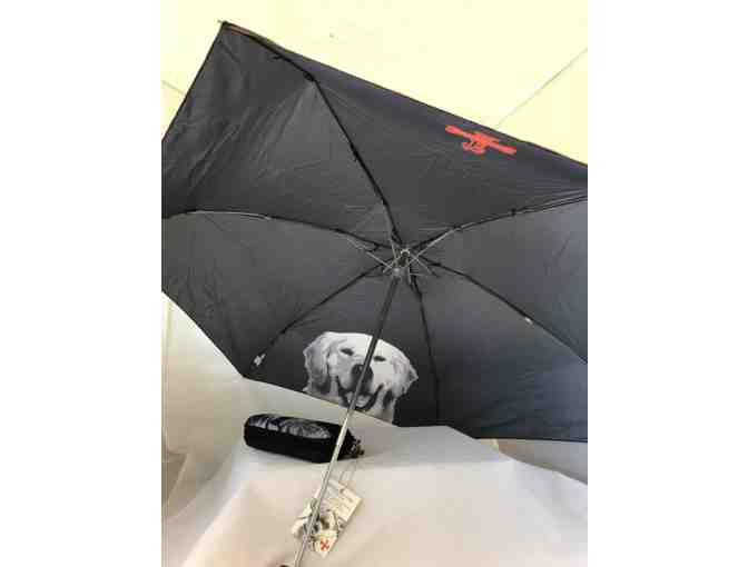 FuzzyNation Umbrella - Black with Golden Retriever Photo