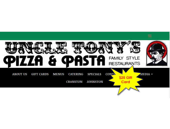 $25 Uncle Tony's Pizza & Pasta Gift Card - Photo 1