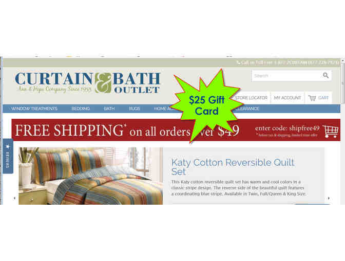 $25 Ann & Hope Curtain and Bath Outlet Gift Card - Photo 1