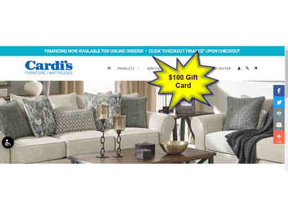 $100 Gift Card to Cardi's Furniture and Mattresses