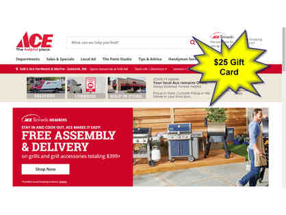$25 ACE Hardware Gift Card - donated by a Friend of the Shelter