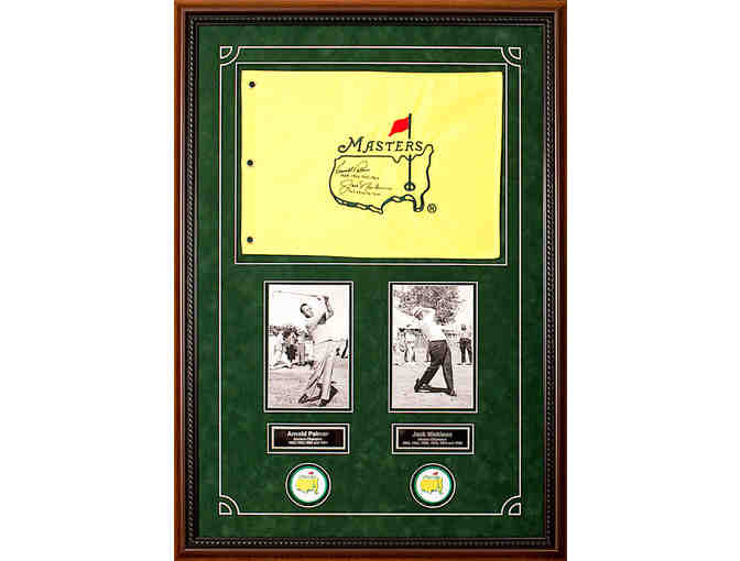 Masters Flag autographed by Arnold Palmer and Jack Nicklas