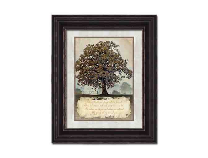 Family Tree Framed Canvas Art - Messenger LLC