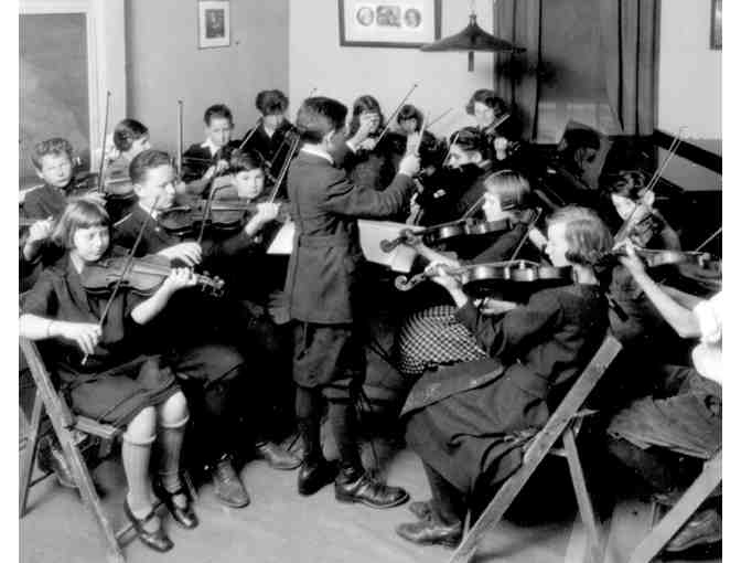 Historic photo of CMC String Orchestra rehearsal