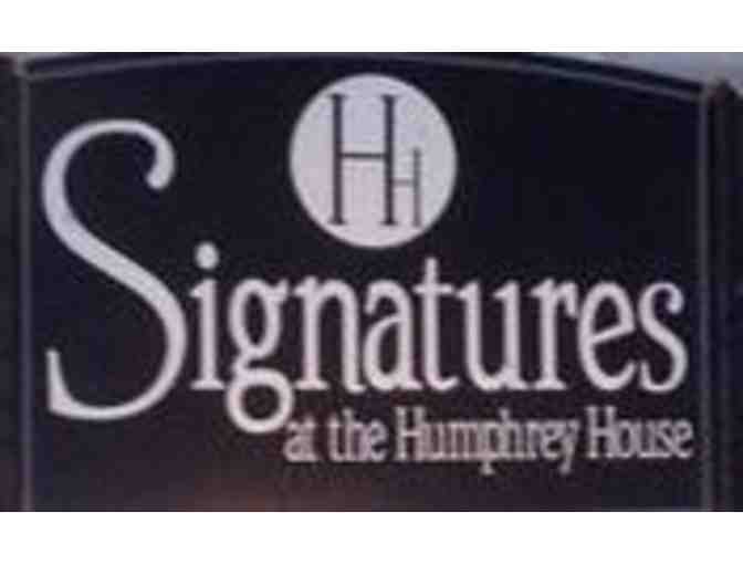 Signatures, At the Humphrey House - $50 Gift card