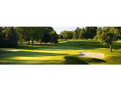 Accompanied threesome of golf at Broadmoor Country Club in Indianapolis, IN