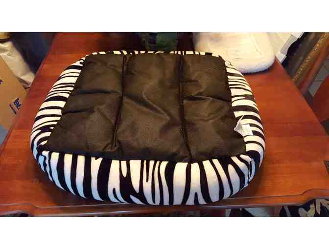 Zebra Striped Dog Bed