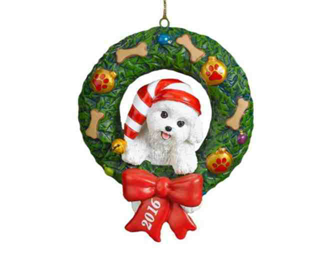 2016 Danbury Mint Bichon Ornament