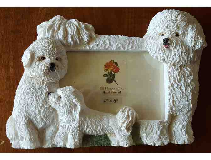 Bichon and Pup Picture Frame