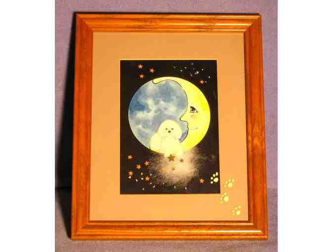 Bichon Frise With Smiling Moon picture