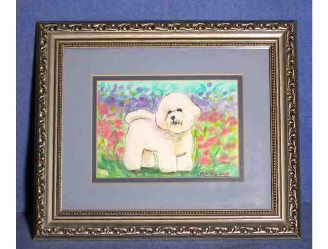 Bichon Frise framed painting by Anna
