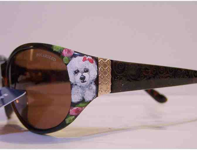 polarized hand painted Bichon Sunglasses