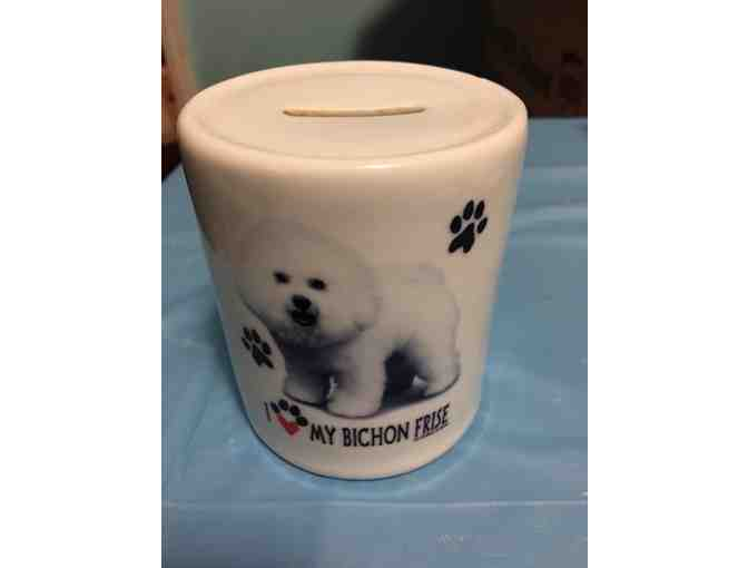 Bichon Frise Coin Bank