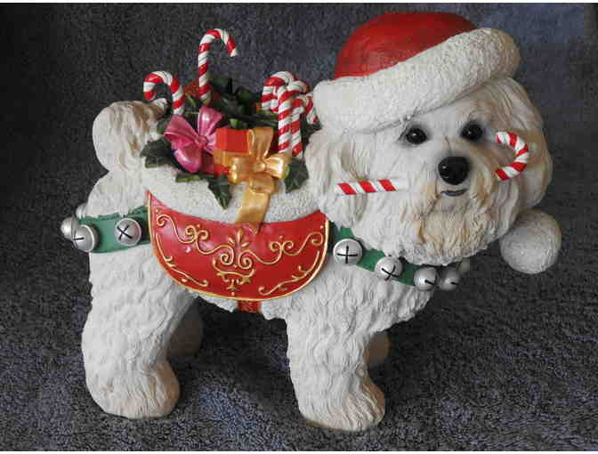 Danbury Mint - The Christmas Bichon - Large Figurine