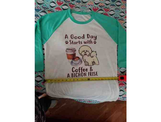 Bichon Baseball Shirt - Size XL