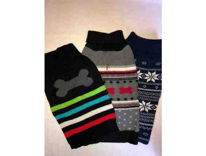 Lot of 3 Dog Sweaters