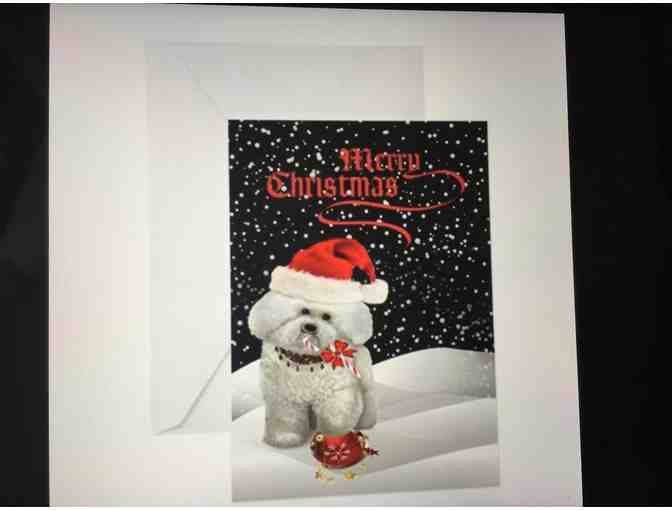 Bichon Snowy Christmas Greeting Cards (pkg of 10)