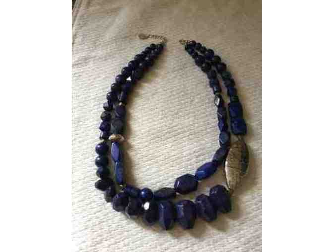 Lapis and Sterling Silver Necklace